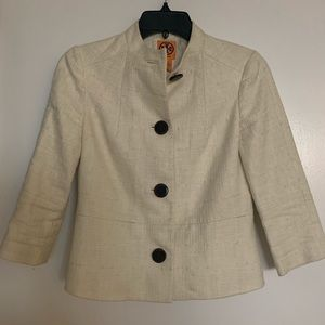 Tory Burch white linen jacket/blazer